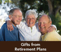 Rollover image of two men and a woman. Link  to Gifts of Retirement Plans.