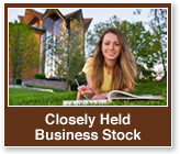 Rollover image of a student studying on the grass. Link to Closely Held Business Stock.